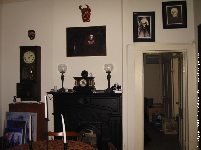 Back wall of the parlor